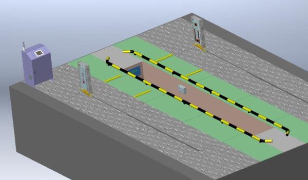 非接触式双激光阵列多轴大车定位仪